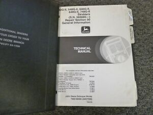 John Deere 540g ii 548g ii 640g ii Skidder Shop Service Repair Manual Tm1694
