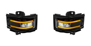 2017 2018 Superduty Platinum Smoked Side Mirror Amber Led Turn Signal Lights