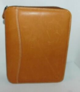 Franklin Covey Glove Leather Spacemaker Zipper Binder 1 1 8 Planner New Full