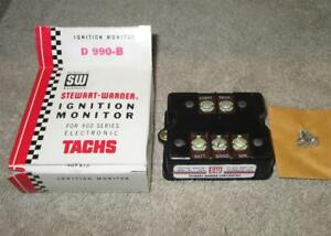 Nos Stewart Warner 990b Ignition Monitor Pedestal Tach Yenko Camaro Chevelle Wow