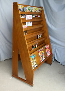 Antique Mission Oak Magazine Or Library Display Stand Original Finish