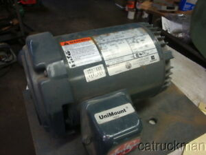 Unused 1 Hp 3 Ph Tefc Footed C faced Motor From Us Motors Gearmotor App