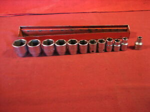 Vintage Mac Tools 3 8 Drive Sockets 1 4 To 15 16 The 1 4 Is A Wright Tools