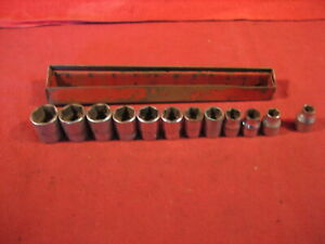 Vintage Snap On Set Of 3 8 Drive Metric Sockets 8mm To 19mm