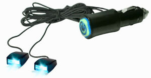 12v Cigarette Lighter Plug Blue Led Accent Light Beams For Auto Car Interior