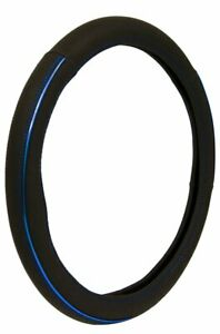 Custom Sport Black Blue Accent Steering Wheel Cover For Auto car truck