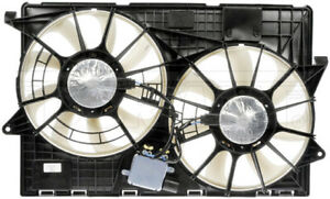 New Engine Radiator Dual Cooling Fan Assembly With Controller Dorman 621 383