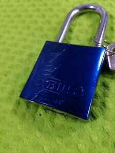 Abus 83al45 Blue Padlock 888 Restricted Cylinder Keyed Alike Qty 6