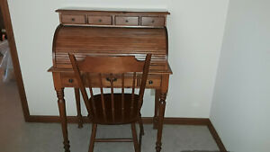 Tell City Young Republic Solid Maple 32 Roll Top Desk 877 W Tell City Chair