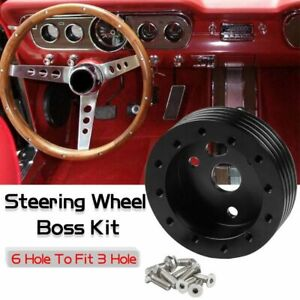 New 1 Steering Wheel Boss Kit Hub Adapter Spacer 6 Hole To Fit Grant Apc 3 Hole