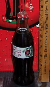 2000 HAPPY HOLIDAYS ATLANTA COCA COLA BOTTLING COMPANY 8 OZ COCA COLA BOTTLE