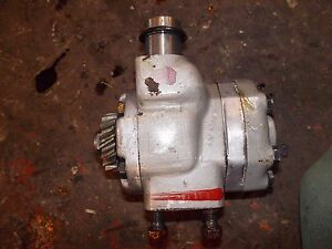 Farmall 504 Utility Ih Tractor Good Working Hydraulic Pump W Drive Gear