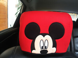 Mickey Mouse Disney Car Truck Van Suv 1 Piece Head Rest Head Seat Cover Red 101