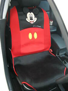 Mickey Mouse Car Truck Suv Van Accessory 1 Piece Car Seat Cover Red black b