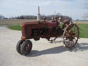 1939 Farmall H Tractor 1st Year Skeleton Steel Rear Fenders Correct Seat Pto