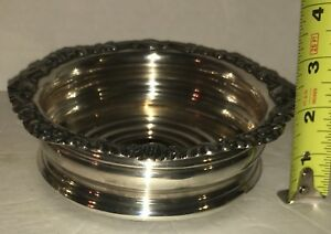 Beautiful Victorian Edwardian Silver Plated Wine Coaster