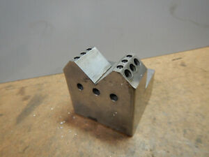 Older Machine Shop Made V Block Fixture Small Tooling Lot Ae48l