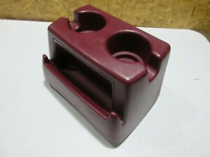 92 96 Ford F150 F250 F350 Tall Bench Seat Cup Holder Maroon Red Automatic Oem