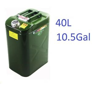 10gal 40l Steel Heavyduty Fuel Gas Storage Tank Can Container For Jeep atv utv