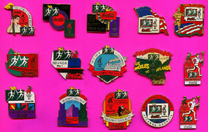 1996 OLYMPIC PINS COCA COLA LOT #1 PICK A PIN 1-2-3- BUY THEM ALL PINS 21 PINS