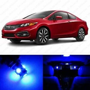 10 X Blue Led Lights Interior Package For Honda Civic 2013 2019 Pry Tool