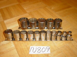 Matco Tools 16 Piece 1 2 Dr Sae Short Socket Set 12 Point 3 8 To 1 5 16