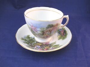 Vintage Royal Vale Bone China Tea Cup And Saucer Made In England