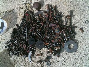 Farmall 300 Utility 560 460 Tractor Box Of Bolts Nuts Spring Parts Cap Etc