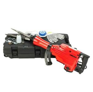 2200w Electric Demolition Concrete Jack Hammer Breaker Red W Case 1900rpm 120v