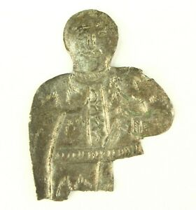 Authentic 1000 A D Medieval Tooled Silver Viking Figure Amulet Of God Warrior