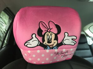 Minnie Mouse Disney Car Truck Van Suv 1 Piece Head Rest Head Seat Cover Pink 166