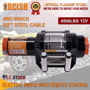 Orcish 4500lb Electric Winch Atv Utv Offroad Waterproof Boat Steel Cable Kits