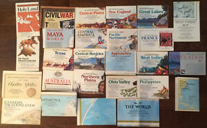 National Geographic 26 Map Lot World Us Canada Texas West Indies Mount Everest