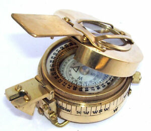 Military Engineering Brass New Antique Compass Prismatic Vintage Nautical Style