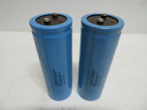 Lot Of 2 Cornell Dubilier 12 791985 00 Capacitor 12000 Uf 350 W Vdc 400 Vdc Blue