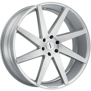 24x9 5 Silver Status Brute Wheels 5x115 15 Fits Dodge Charger Magnum Rwd