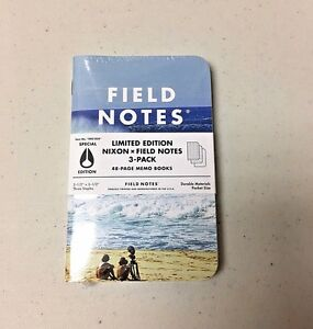 Field Notes X Nixon Sealed 3 pack Memo Notebooks Pads Limited Edition