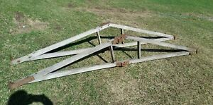 Antique Horse Drawn Wagon Farm Roof Rafters Wood Frame Barn Hardware Rustic Vtg