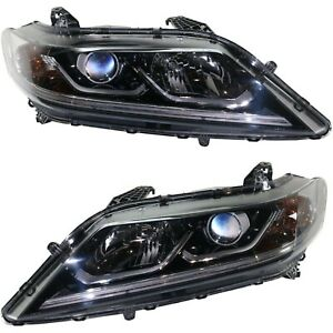 Headlight For 2016 2017 Honda Accord Driver And Passenger Side