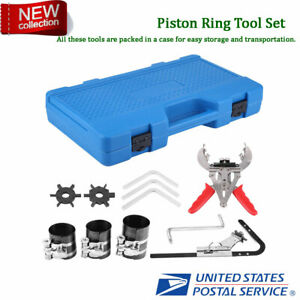 Piston Ring Service Tools Set Engine Ratchet Cleaning Expander Compressor Set