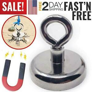 Fishing Magnet Super Strong Retrieving Treasure Pulling Force With Lifting Hook