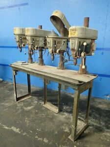 Delta Rockwell 15 665 4 Head Drill Press 15 12 X 72 Table 02190680026