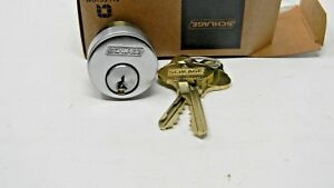 Schlage Everest 29 Mortise Cylinder Satin Chrome New S123 Keyway