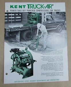 Kent Air Tool Truck air Power take off Truck Compressors 1 Page Brochure Free Sh