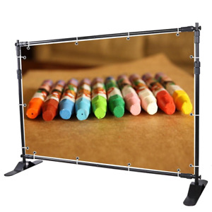 Winspin 8 Step And Repeat Display Backdrop Banner Stand Adjustable Telescopic