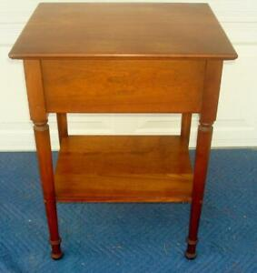 Stickley Cherry One Drawer Lamp Table Night Stand Side Table Hall Table