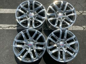 Four 2019 Gmc Sierra Yukon Factory 20 Wheels Oem 23377019 Polished Silverado