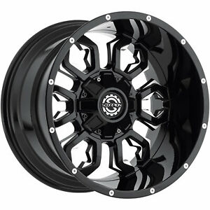 20x12 Black Milled Scorpion Sc17 Wheels 5x4 5 5x5 44 Lifted Fits Ford Ranger