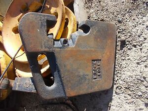 E Rowe Foundry Tractor 85 90 Lb Suit Case Weight Weights Late Model Ih Jd Ac