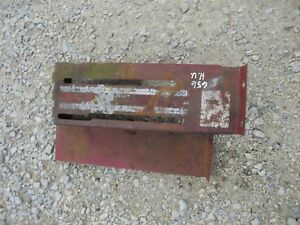 Farmall Ihc 656 Rc High Utility Tractor Original Ih Cover Panel For Levers